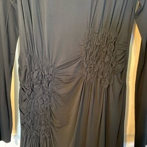 My Tribe Dresses - NWOT My Tribe black ruched jersey dress